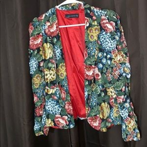 Zara floral blazer size Large